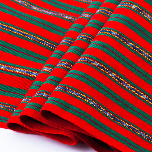 red and gold holiday jaspe table runner detail