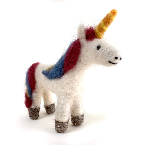 felted wool unicorn