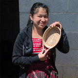 Zoila and her pine needle basket