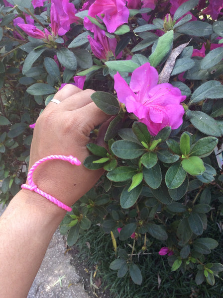 Hope Rope Bracelet - Breast Cancer Awareness
