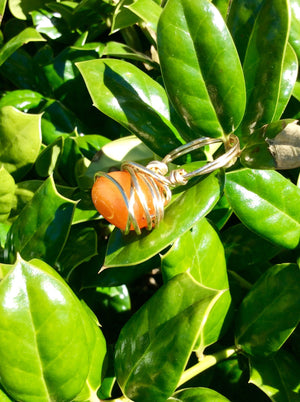 Orange Nugget Wire Wrapped Ring
