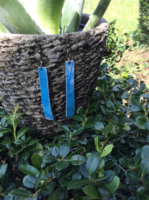 Seagull Strip Leather Earrings