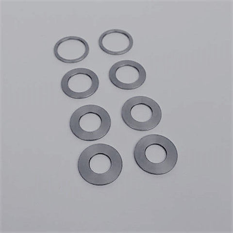 1.0mm Axle Spacers. Stainless Steel.