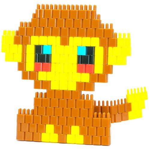 Pinblock_Creative_Building_Block_Toy_Monkey