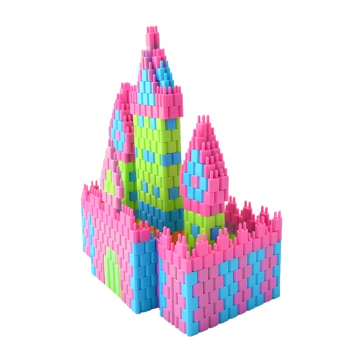 Pinblock_Ceative_Building_Block_Toy_3D_Model_Fire_castle