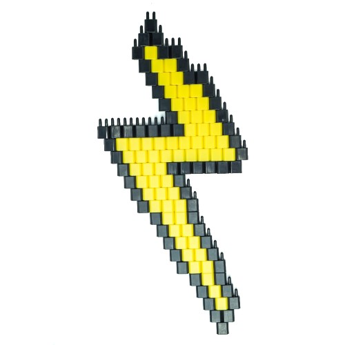 Pinblock_Pixelart_Creative_Building_Toy_Lightning