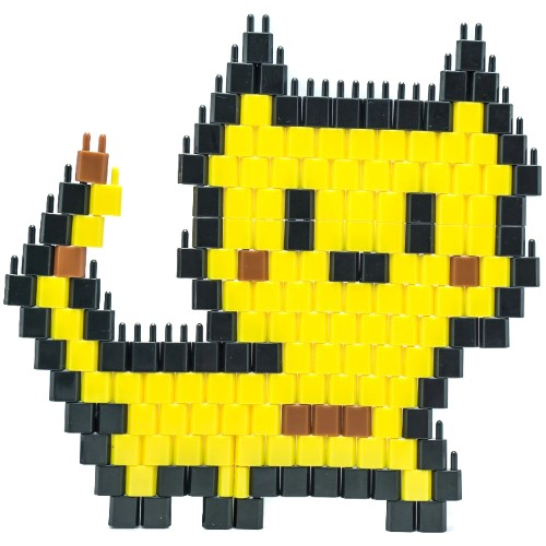 Pinblock_Pixelart_Creative_Building_Toy_Yellow Cat