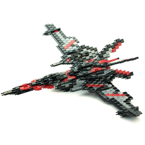 Pinblock Creative Building Block Toy 3D Model Silver Falcon Flying