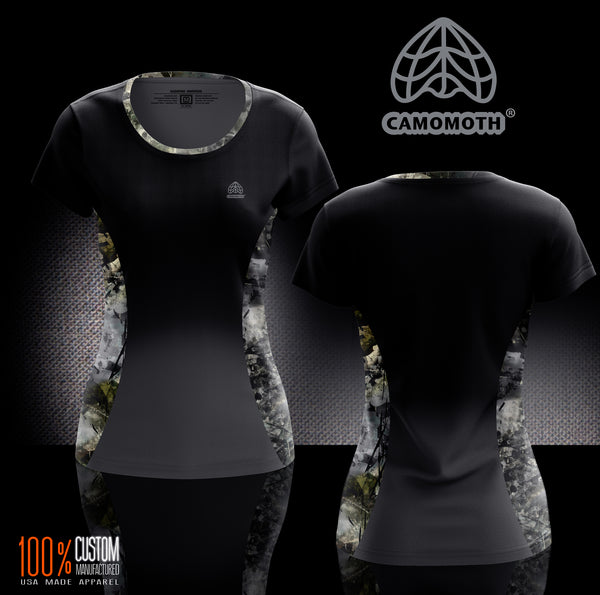 Ladies Camomoth® Short Sleeve Fade to Short