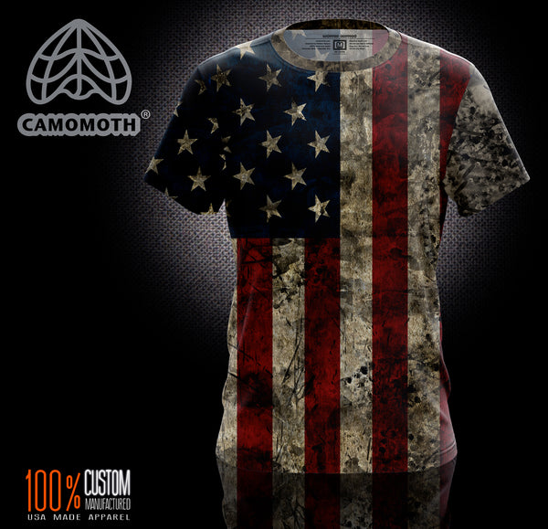 Men's Camomoth® Short Sleeve Ol' Glory