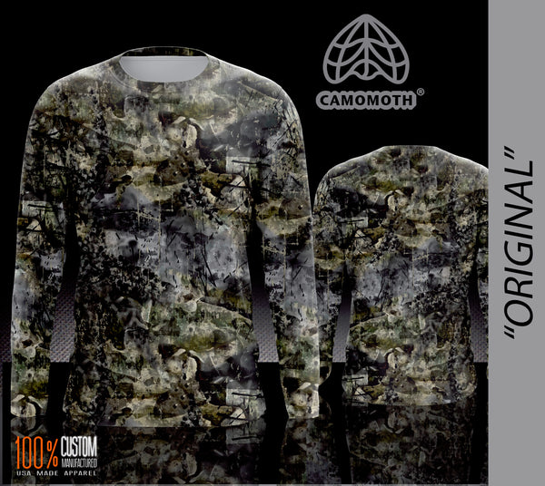 Men's Camomoth® Long Sleeve T-Shirt in Original Camomoth® Green