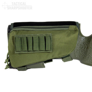 Sniper Stockpack - Green - Synthetic Suede Cheeckpad-Stock Packs-Tactical Sharpshooter