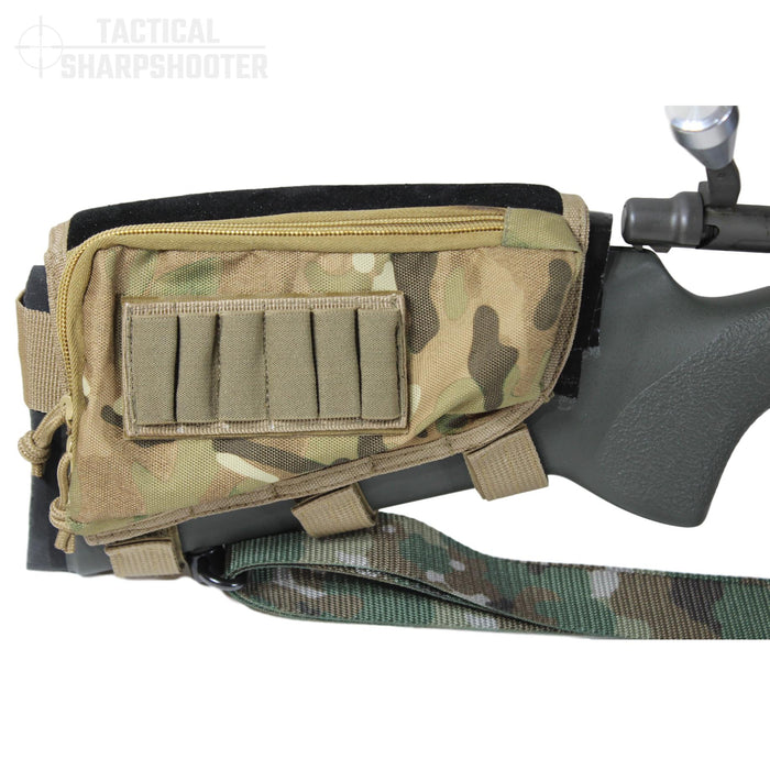 Sniper Stockpack - Multicam w/ Leather Suede Cheekpiece