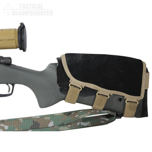 Sniper Stockpack - Multicam w/ Leather Suede Cheekpiece-Stock Packs-Tactical Sharpshooter
