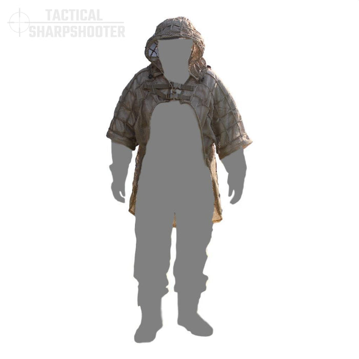 Ghillie Suit Foundation Jacket with Removable Hood