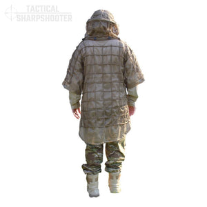 Ghillie Suit Foundation Jacket with Removable Hood-Ghillie-Tactical Sharpshooter