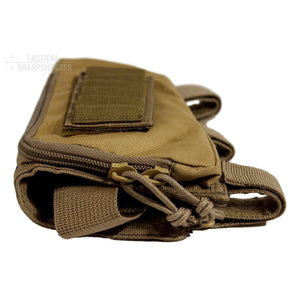 Sniper Stockpack - Tan - Synthetic Suede Cheekpad-Stock Packs-Tactical Sharpshooter