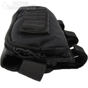 SNIPER STOCKPACK - BLACK - Tactical Sharpshooter Rifle Stock Pack buttstock ammo holder padded cheek rest zippered utility ammo pouch