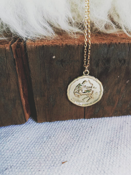 Sagittarius Coin Necklace