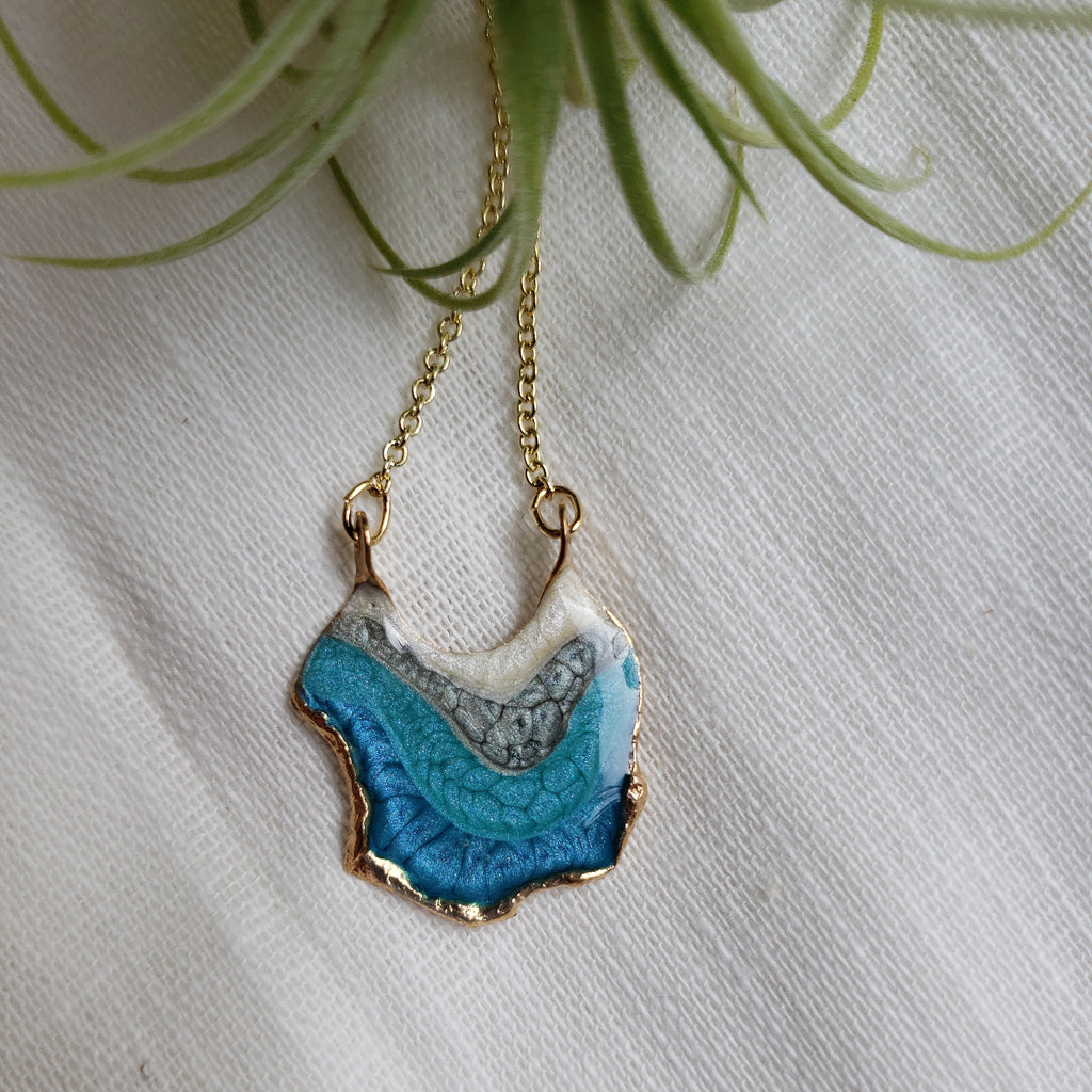 SALE- Reticulated Necklace - Carribbean Blue/Turquoise