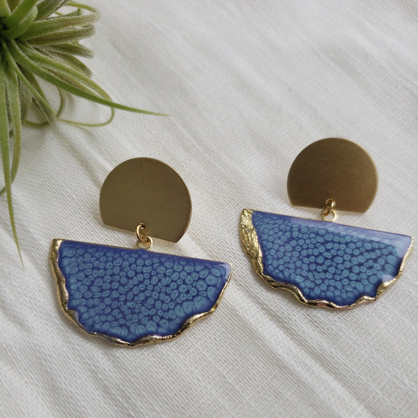 SALE-Marina Fan Stud Statement Earring