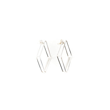 3D Geometric Diamond Studs