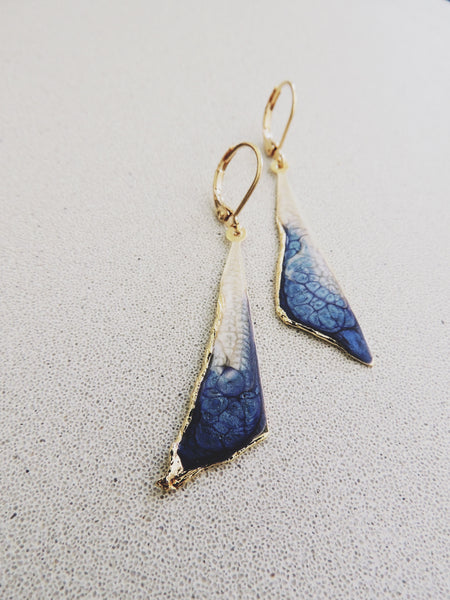 Reticulated Ombre Drops-Sapphire