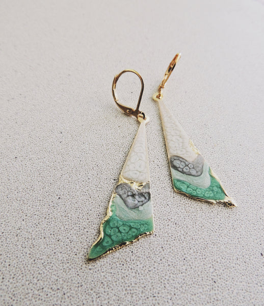 Reticulated Ombre Drops-Mint