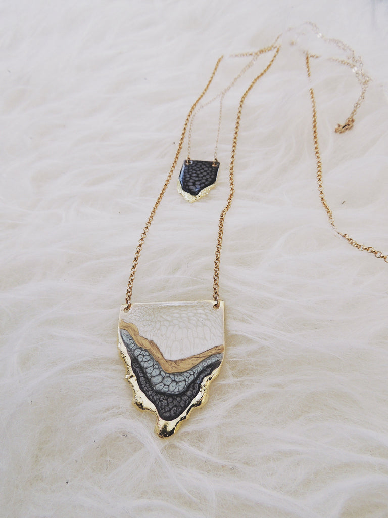 SALE-Multi Reticulated Necklace- Moonstone