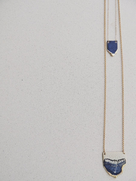 Multi Reticulated Necklace- Sapphire
