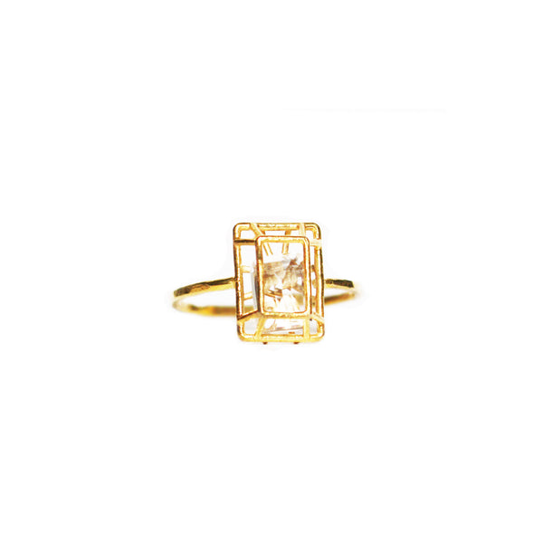 Emerald Cut Quartz Ring