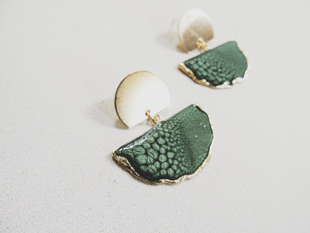 Forest Fan Stud Statement Earring