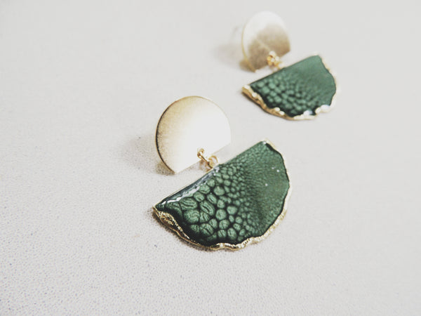 SALE-Forest Fan Stud Statement Earring