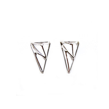 Crystallized Triangle Studs