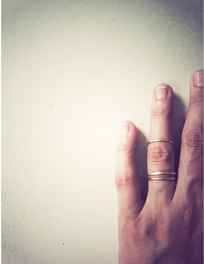 Plain Stacking Rings