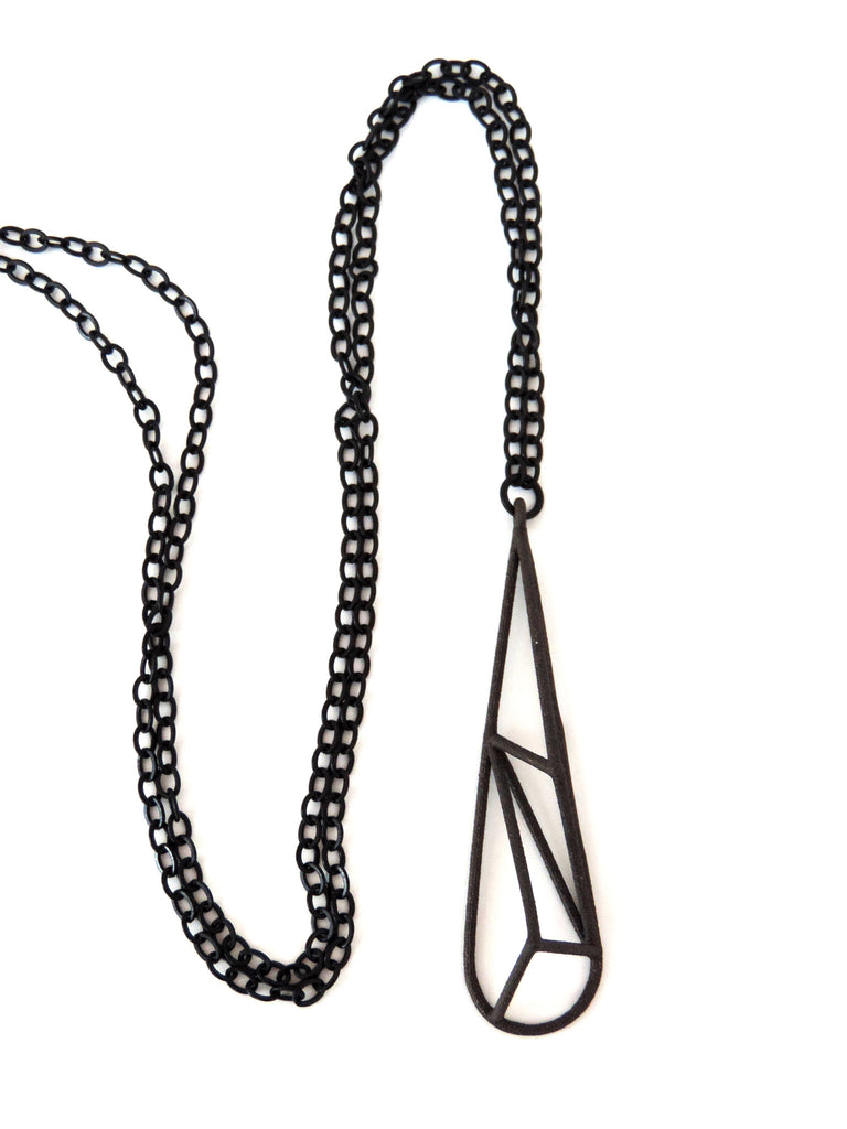 Crystallized Teardrop Necklace