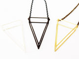 3D Geometric Triangle Necklace