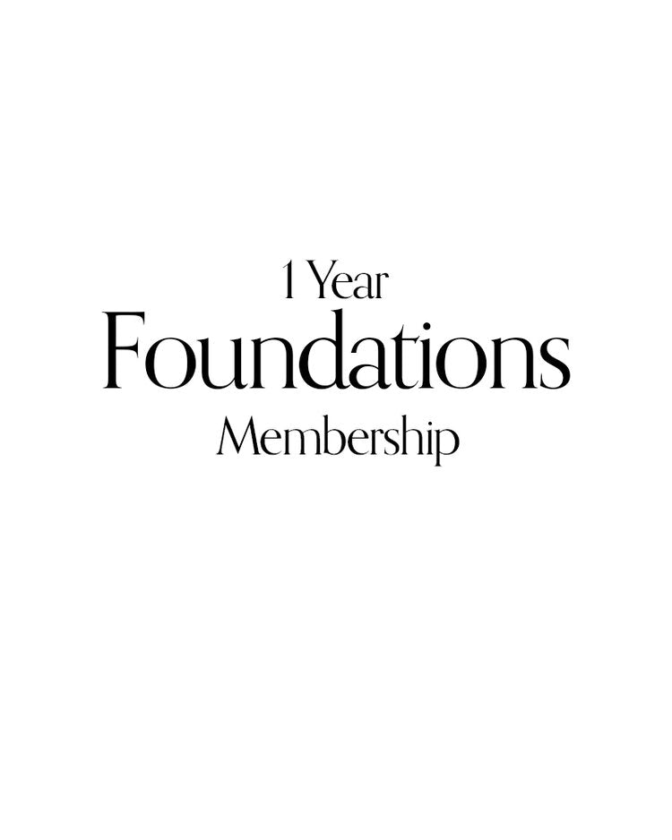 1 Year Foundations Membership