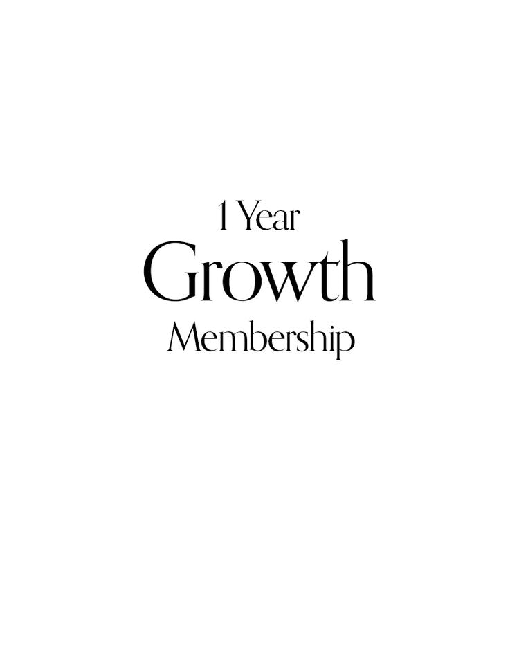 1 Year Growth Membership