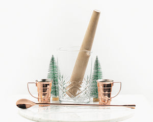 The Essential Cocktail Kit with Maple Muddler