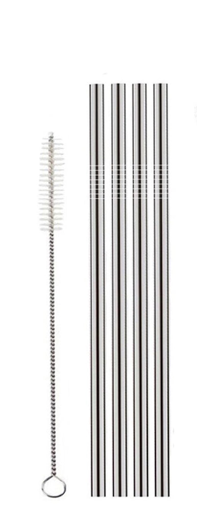 Stainless Steel Straws (8.5 IN) - Set of 4