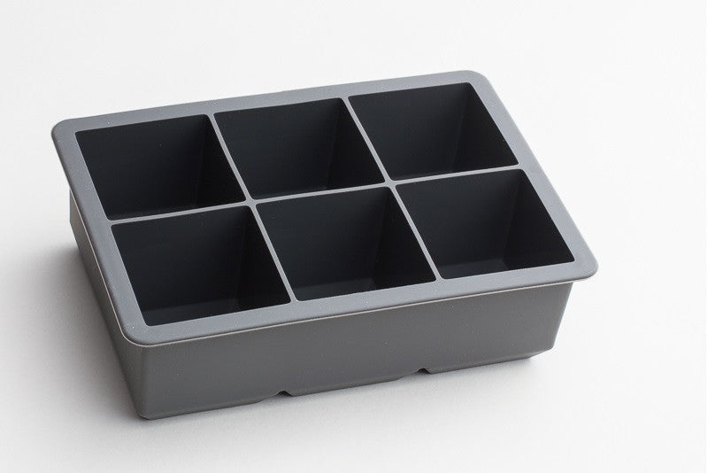 "Tovolo King Cube 2"" Ice Cube Tray - Charcoal Grey Color"