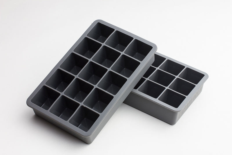 Tovolo Perfect Ice Cube Trays - Charcoal Grey Color (set of 2)