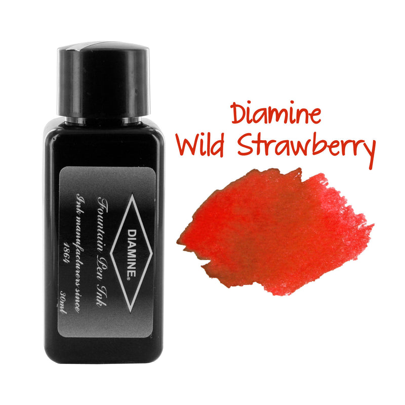 Diamine Fountain Pen Bottled Ink, 30ml - Wild Strawberry
