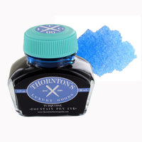 Thornton's Luxury Goods Fountain Pen Ink Bottle, 30ml - Turquoise