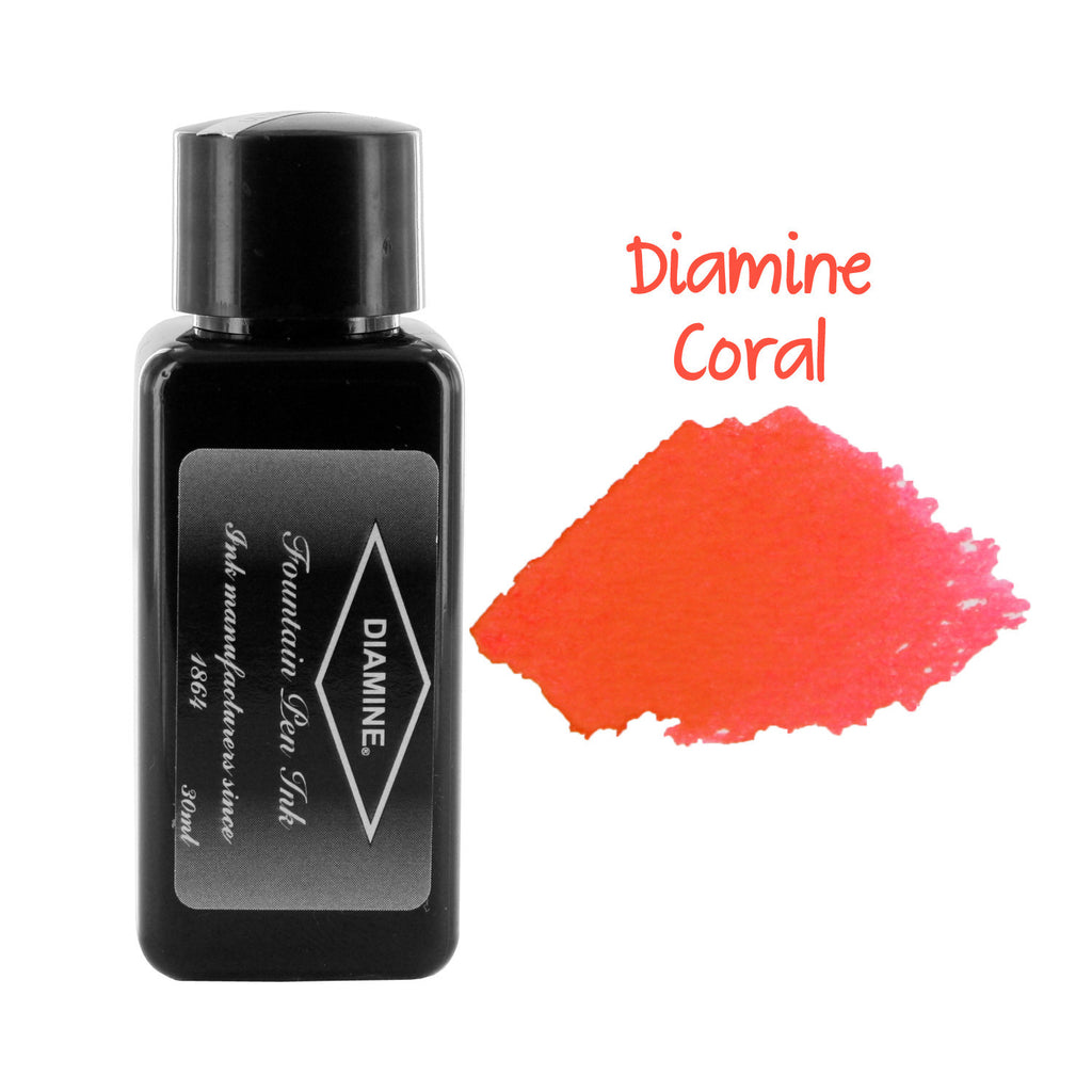 Diamine Fountain Pen Bottled Ink, 30ml - Coral