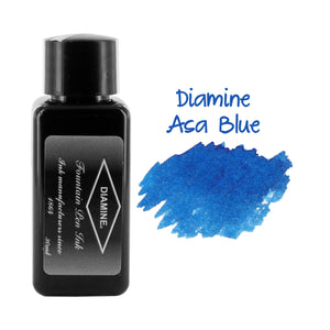 Diamine Fountain Pen Bottled Ink, 30ml - Asa Blue