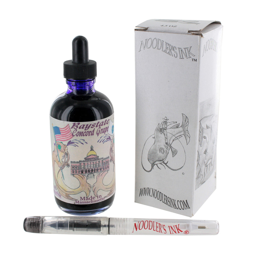 Noodler's Ink Fountain Pen Bottled Ink w/ Eyedropper, 4.5 oz. w/ Free Pen - Concord Grape