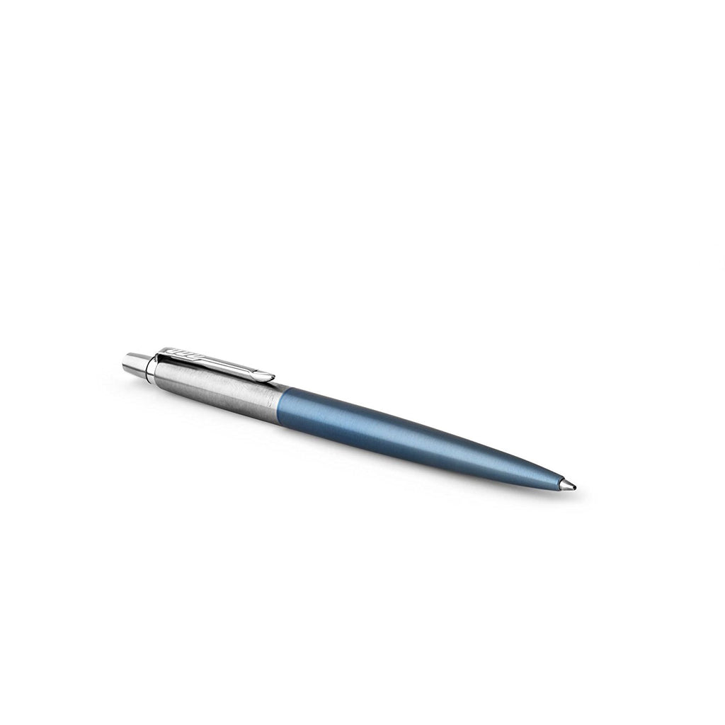 Parker Jotter Ball Point Pen, Waterloo Blue with Medium Point Blue Ink, Gift Box