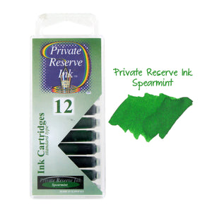 Private Reserve Ink Short International Ink Cartridges, Pack of 12 - Spearmint